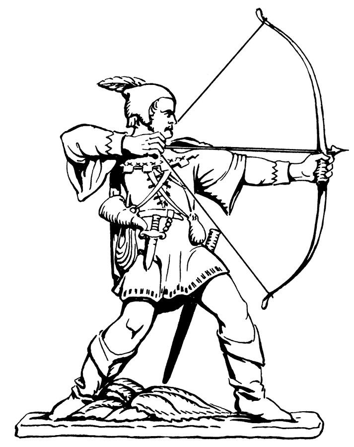 Line Drawing Robin : Line drawing of the robin hood statue nottingham city