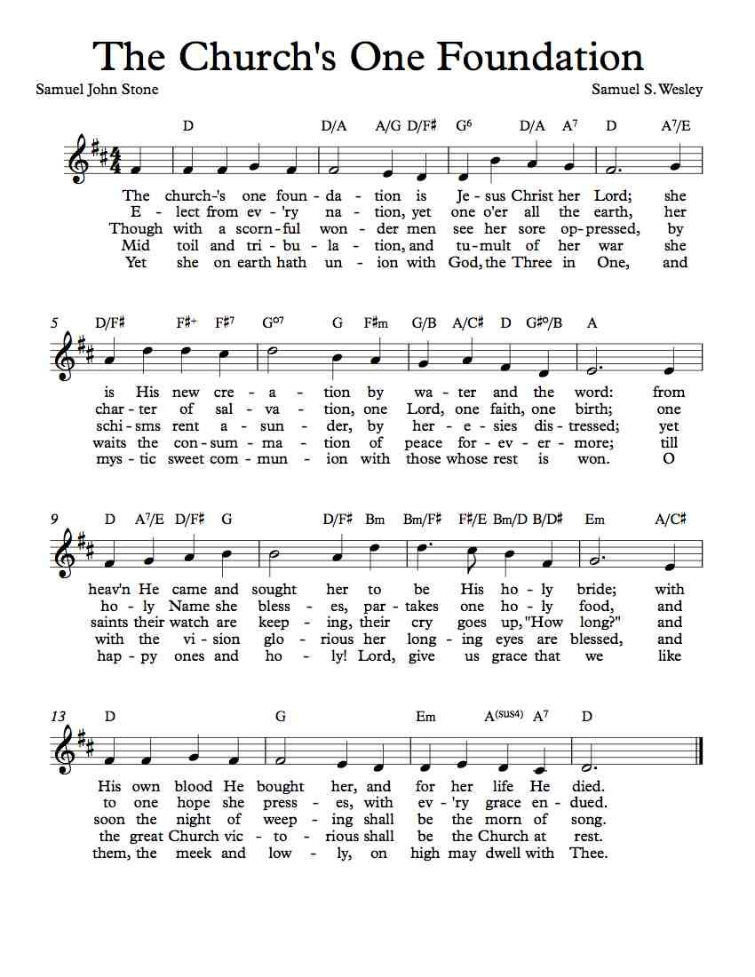Free sheet music free lead sheet the churchs one foundation free sheet music free lead sheet the churchs one foundation by samuel sebastian wesley hexwebz Choice Image