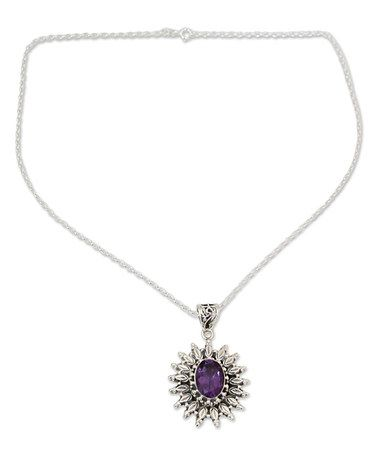 Another great find on #zulily! Sterling Silver & Amethyst Pendant Necklace #zulilyfinds