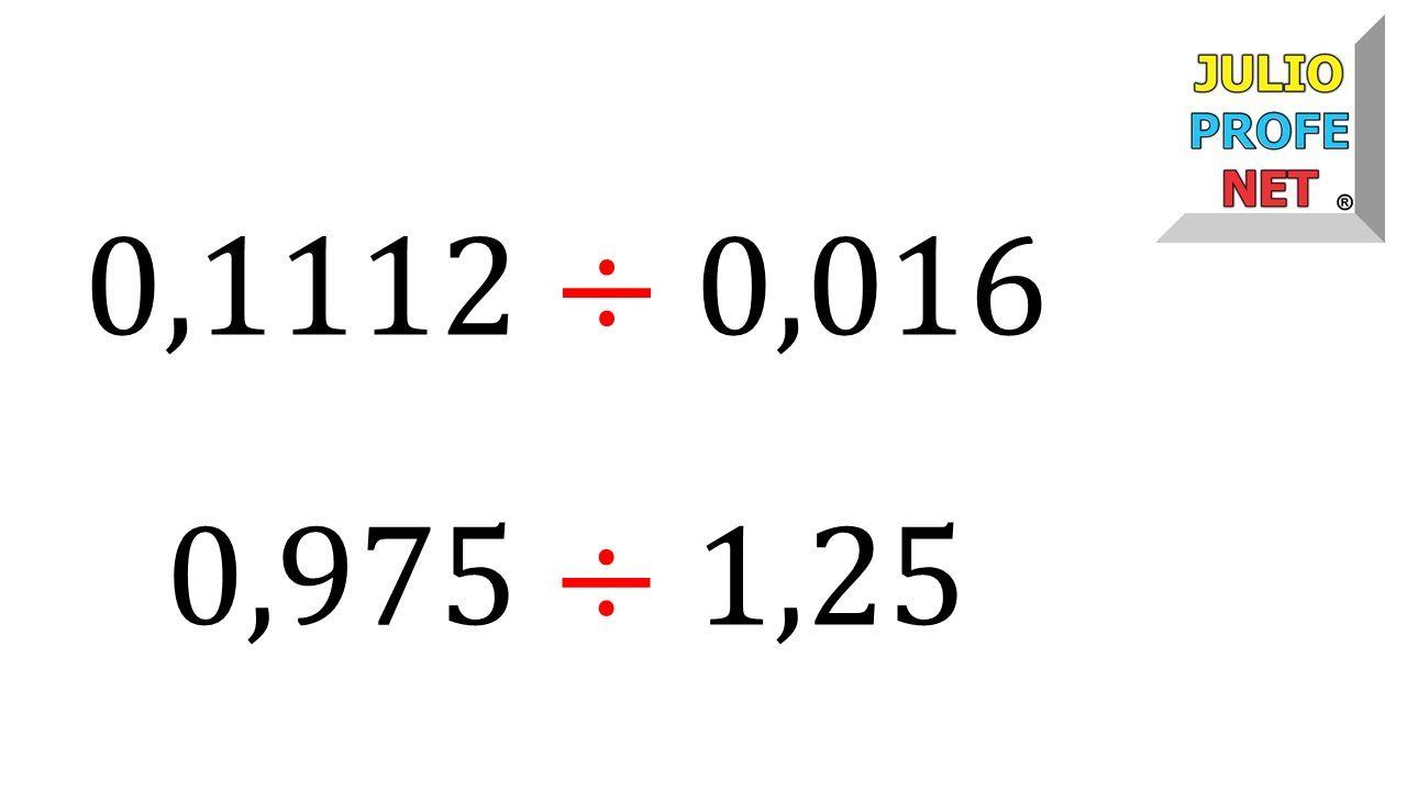 División De Números Decimales Decimal Fracciones Decimales Numeros Decimales
