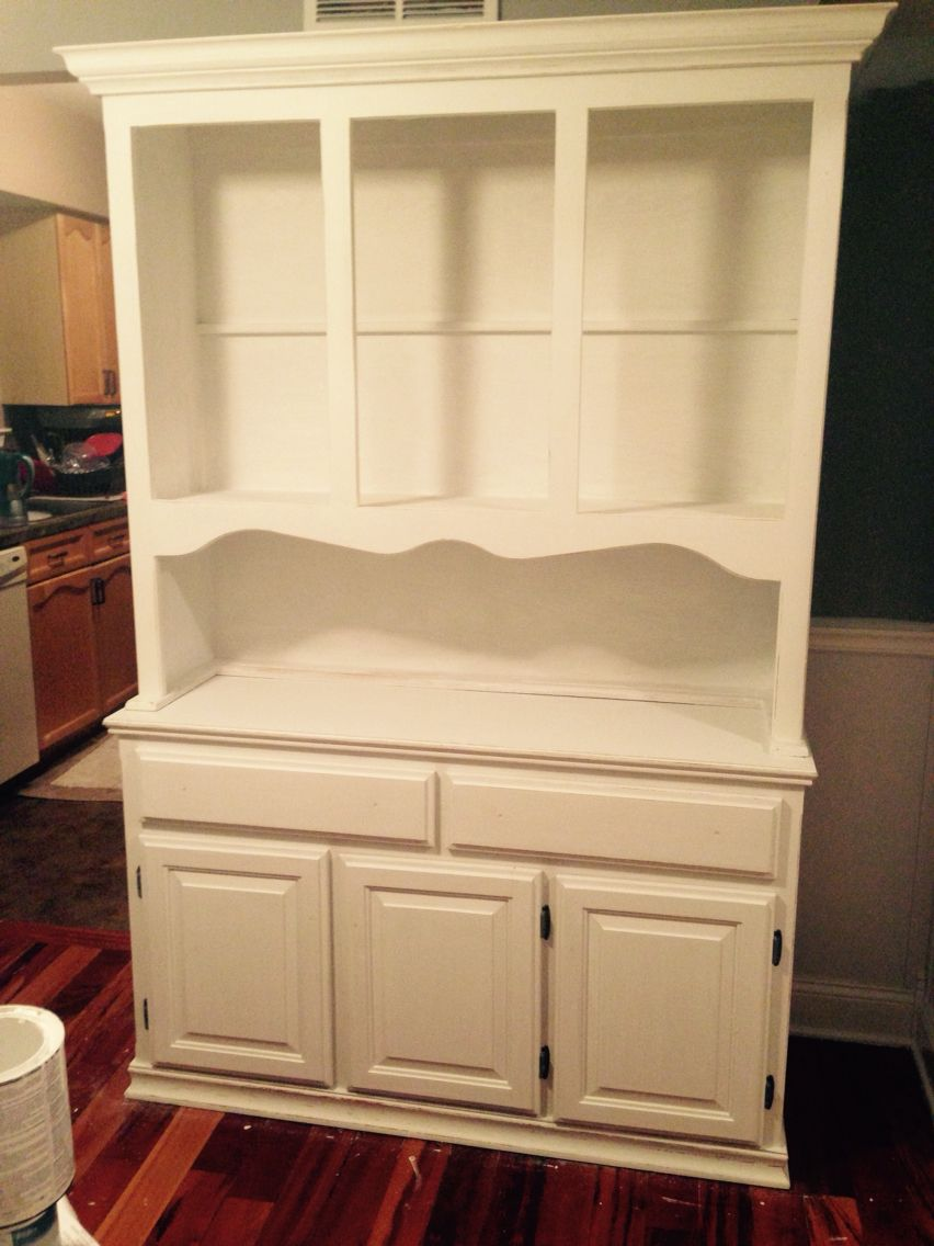 Hutch refinished in Belle Crain Dover Chalk paint