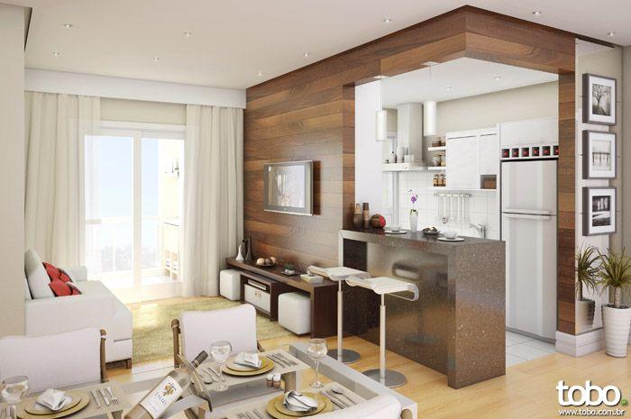Decoracion de sala comedor y cocina en un mismo ambiente for Cocina apartamento pequeno