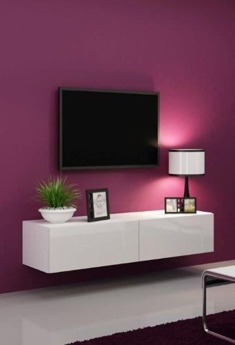 High gloss tv stand tv cabinet tv wall unit tv for White high gloss kitchen wall units