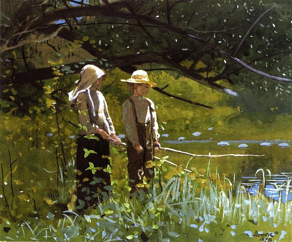 "Winslow Homer, ""Fishing,"" 1878."