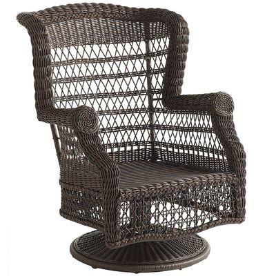 Sunset Pier Swivel Rocker Chestnut Brown Outdoor Wicker Rocking Chairs Wicker Patio Chairs Wicker Patio Furniture