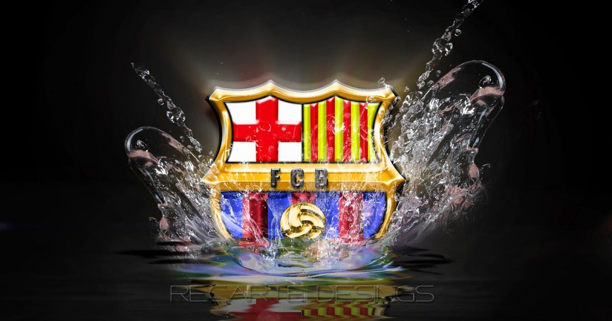 Wallpaper Club Sepak Bola Keren 3 Logo Barcelona Fc 3d