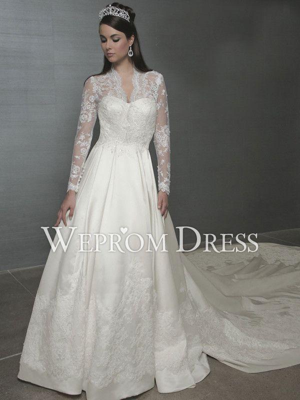 vestidos de novia elegantes strapless cola larga - buscar con google