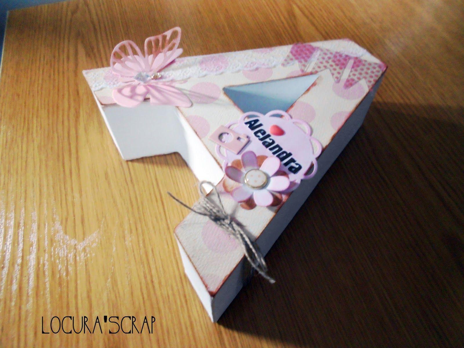 Locura 39 scrap blog dedicado al scrapbooking y manualidades letras a de cart n decoradas - Letras decoradas scrap ...