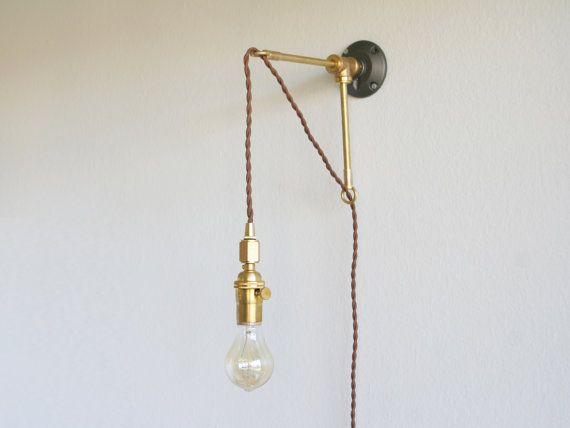 Brass Bracket With Hanging Light Metal Bracket Hanging Lamp Hanging Edison Lamp Hanging Lamp Hanging Lights Brass Wall Sconce
