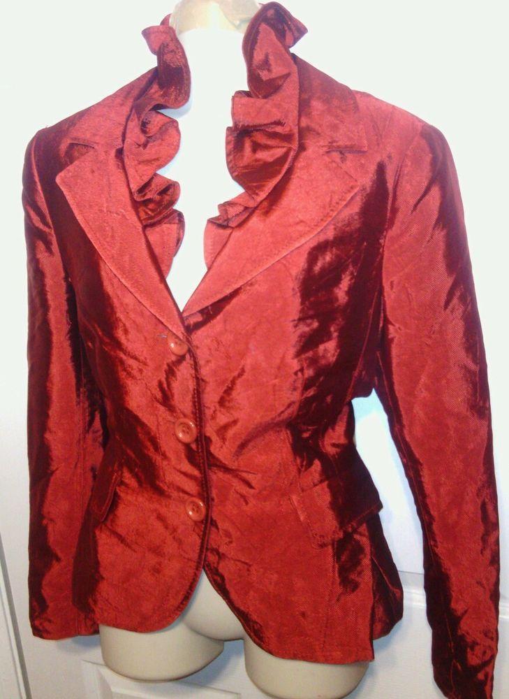 02de5f2e7a Moschino Cheap and Chic 10 Red jacket blazer removable collar designer NEW # Moschino #Blazer