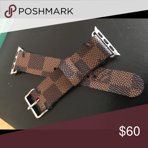 Custom Louis Vuitton Apple Watch Band This is one of a kind Apple Watch Band made with authentic Louis Vuitton material. Please comment your size for Apple Watch 38mm or 42mm . This product fits all Apple Watch Band Series. Louis Vuitton Accessories