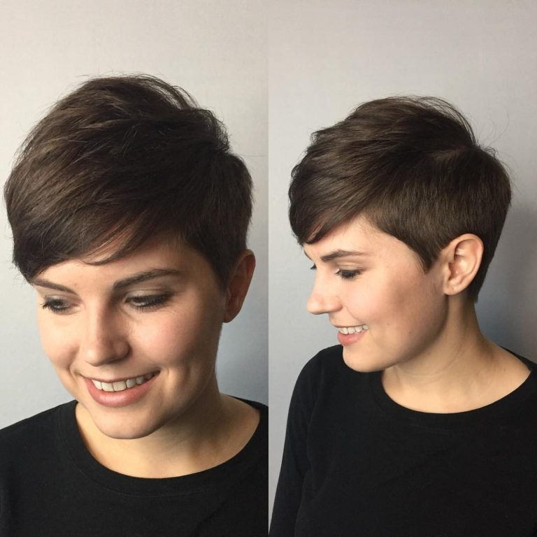 Polished Tapered Pixie with Voluminous Texture and