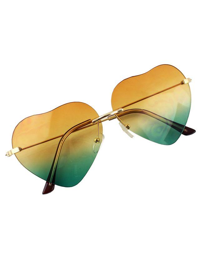 4a227f83f0 Gafas de sol forma de corazón -amarillo 9.47 | Cosas para comprar en ...