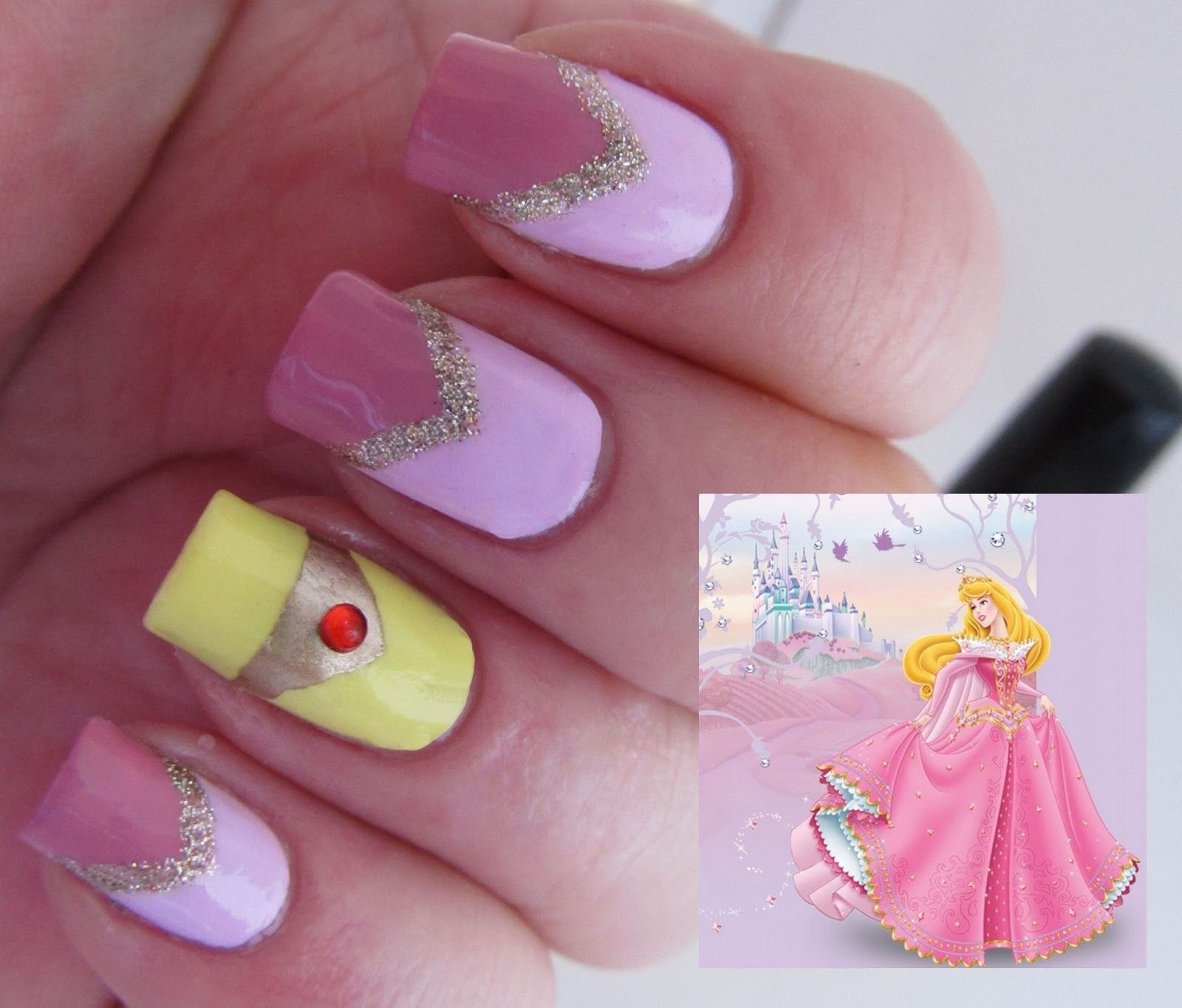 Its all about the polish: Disney Princess Challenge - Sleeping ...