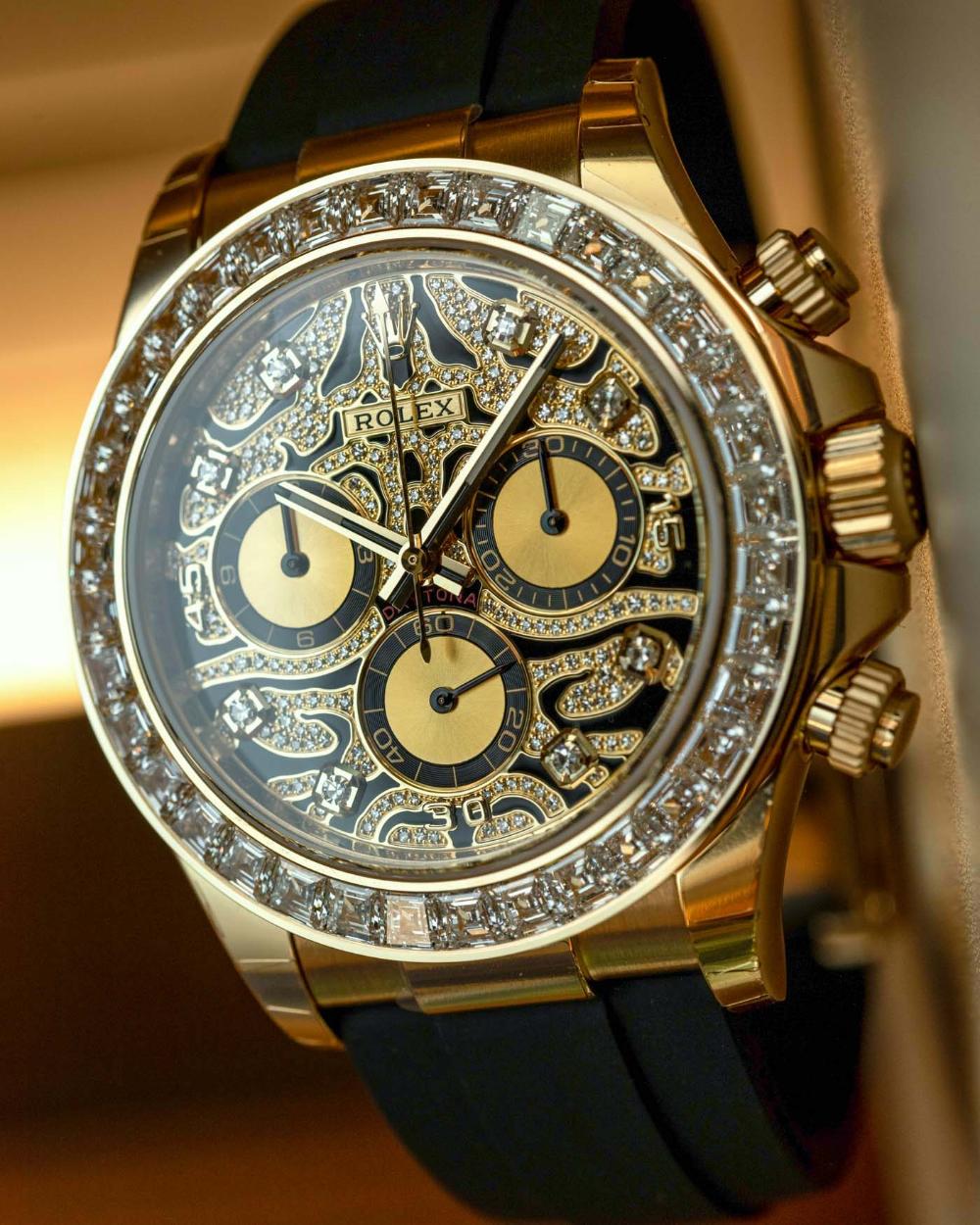 Hands-On: Rolex Daytona 116588TBR 'Eye Of The Tiger' Or 'Rorschach Test' Diamond Set Watch | aBlogtoWatch
