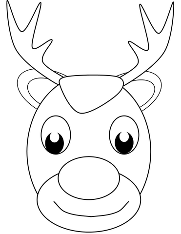 Christmas Reindeer Face Coloring Page Png 371 480 Reindeer Face Deer Coloring Pages Printable Christmas Coloring Pages