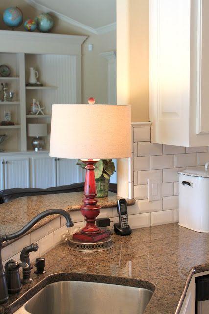It S A Wannabe Decorator S Life Kitchen Reveal Finally Kitchen Lamp On Counter Kitchen Lamps Decor Beautiful Kitchens