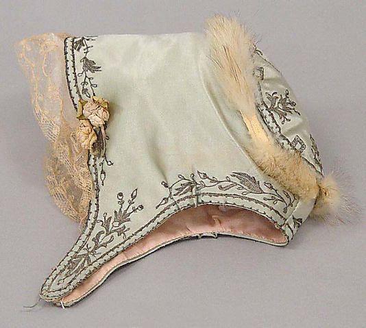 Silk, cotton and fur French bonnet ... c. 1922
