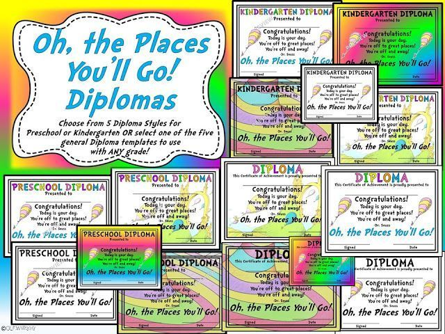 Customized Diploma Choices Included In This Oh The Places YouLl