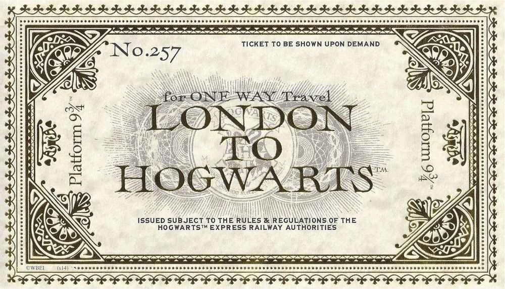 Sweet image intended for hogwarts express ticket printable