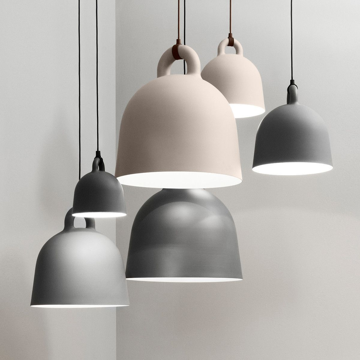 The Expression Of The Bell Pendant Lamp Is Robust The Form Is Simple With Its Industrial Yet Friendly Look Th Normann Copenhagen Bell Lamp Lamp Pendant Lamp