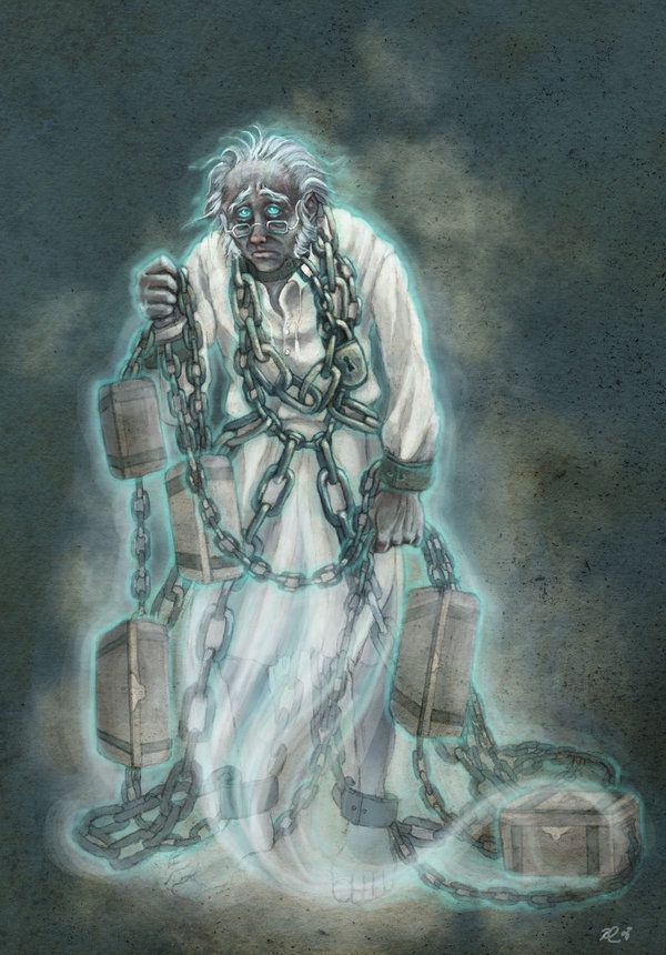 Jacob Marley is Scrooge's deceased business partner, now a chained and tormented… | Christmas ...