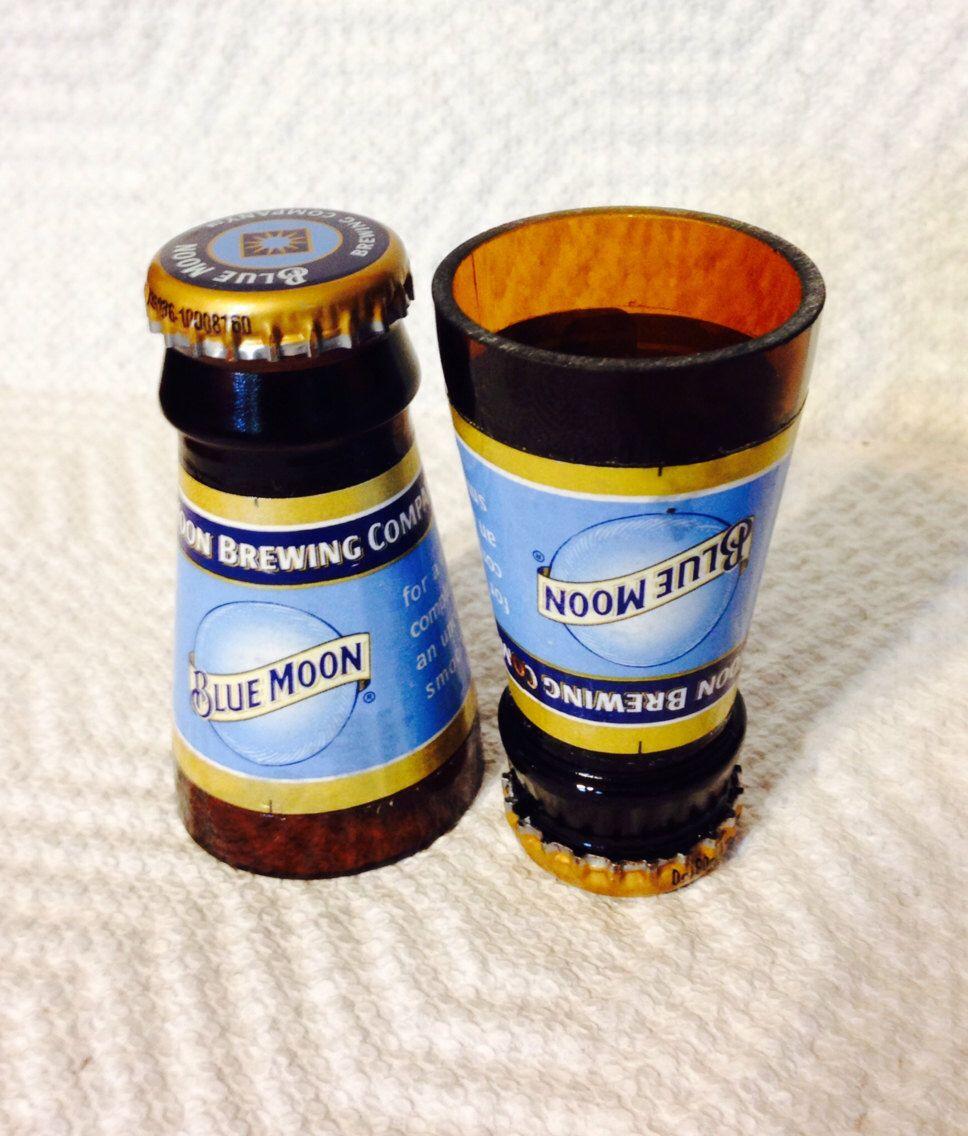 Blue Moon Beer Bottle Shot Glasses | Gör det själv, Återbruk