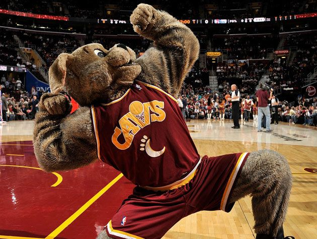 David West knocked out the Cleveland Cavaliers' mascot, and