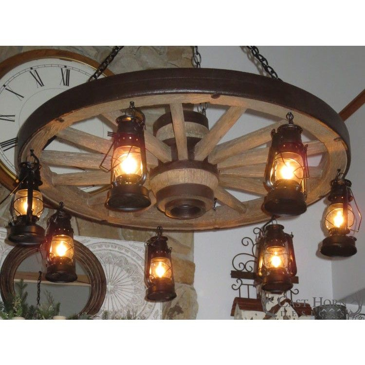 Large Wagon Wheel Chandelier That Will