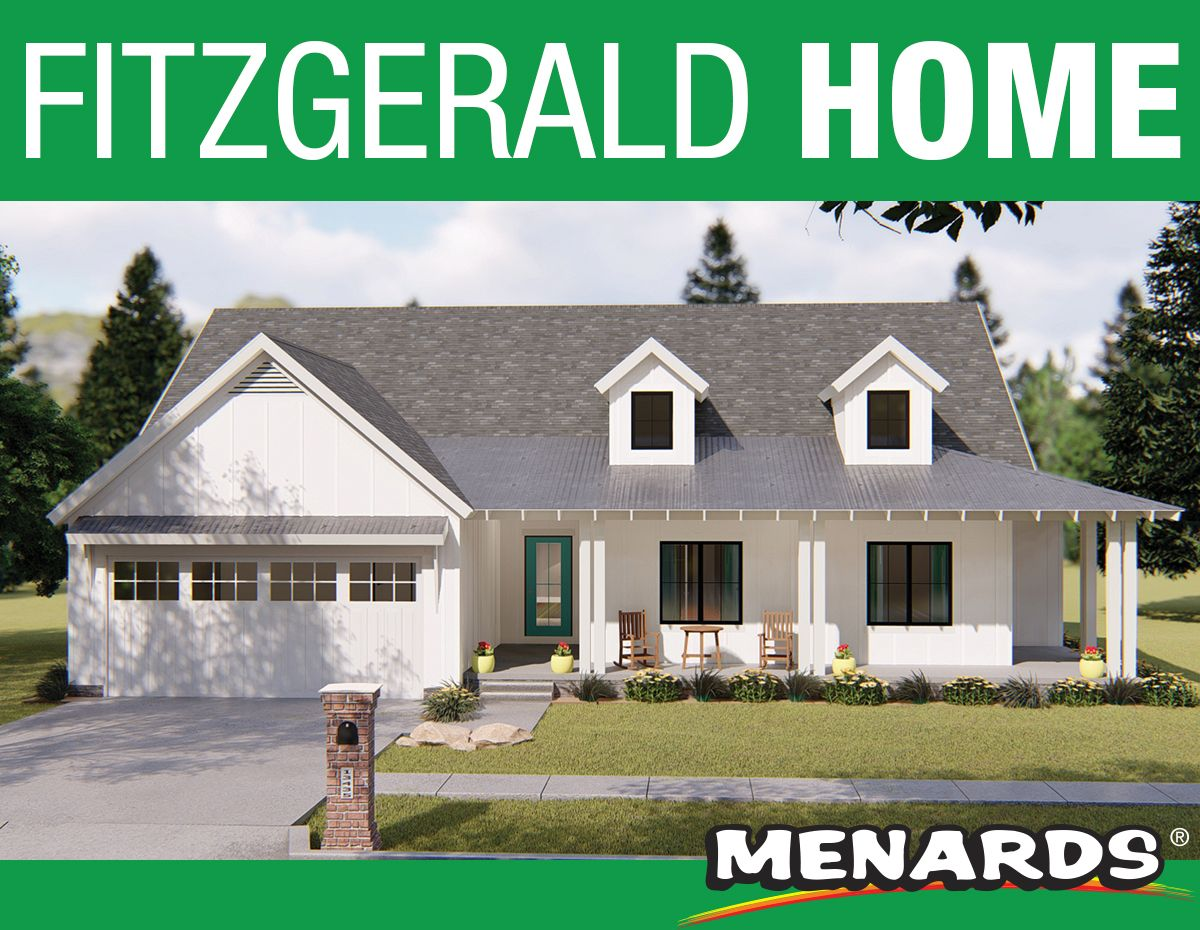 The Fitzgerald 1 Story Home Features An Open Floor Plan With 3 Bedrooms And 2 Bathrooms It Offers Gr Porch House Plans House Plans Outdoor Entertaining Spaces