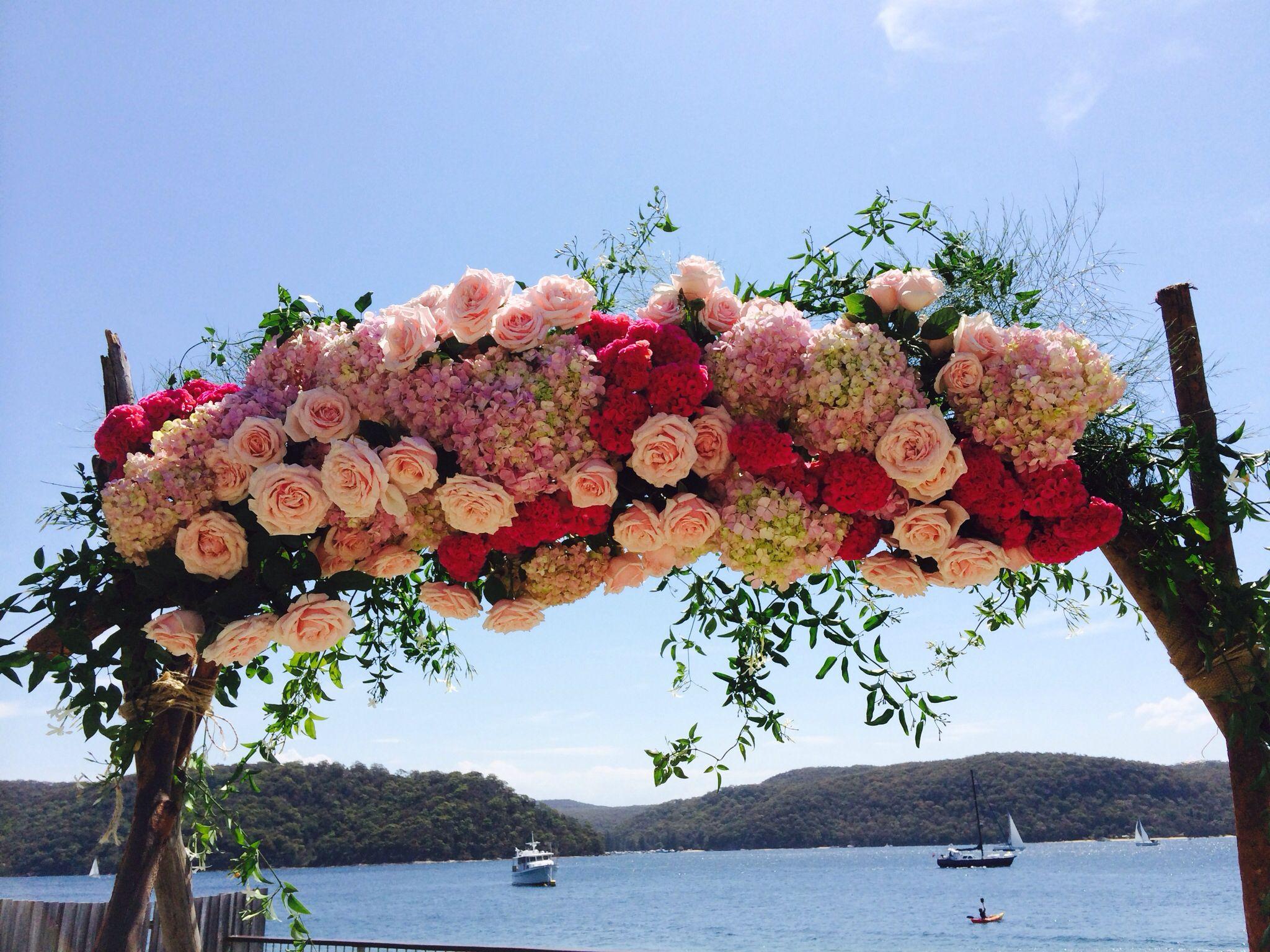 Beautiful Flower Arch At Palm Beach Wild Lotus Florist Newport