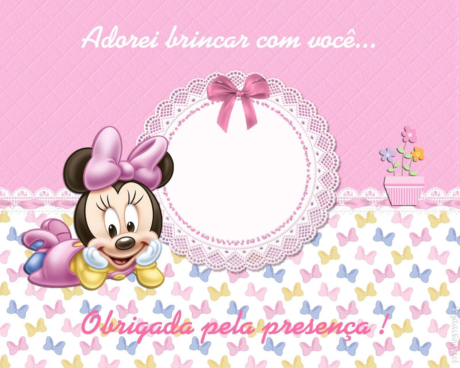 Kit De Personalizados Minnie Mouse Baby Para Imprimir Festa