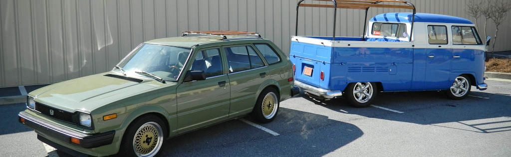 Rutledge Wood's 1966 Volkswagen Double Cab & 1983 Honda Civic Wagon
