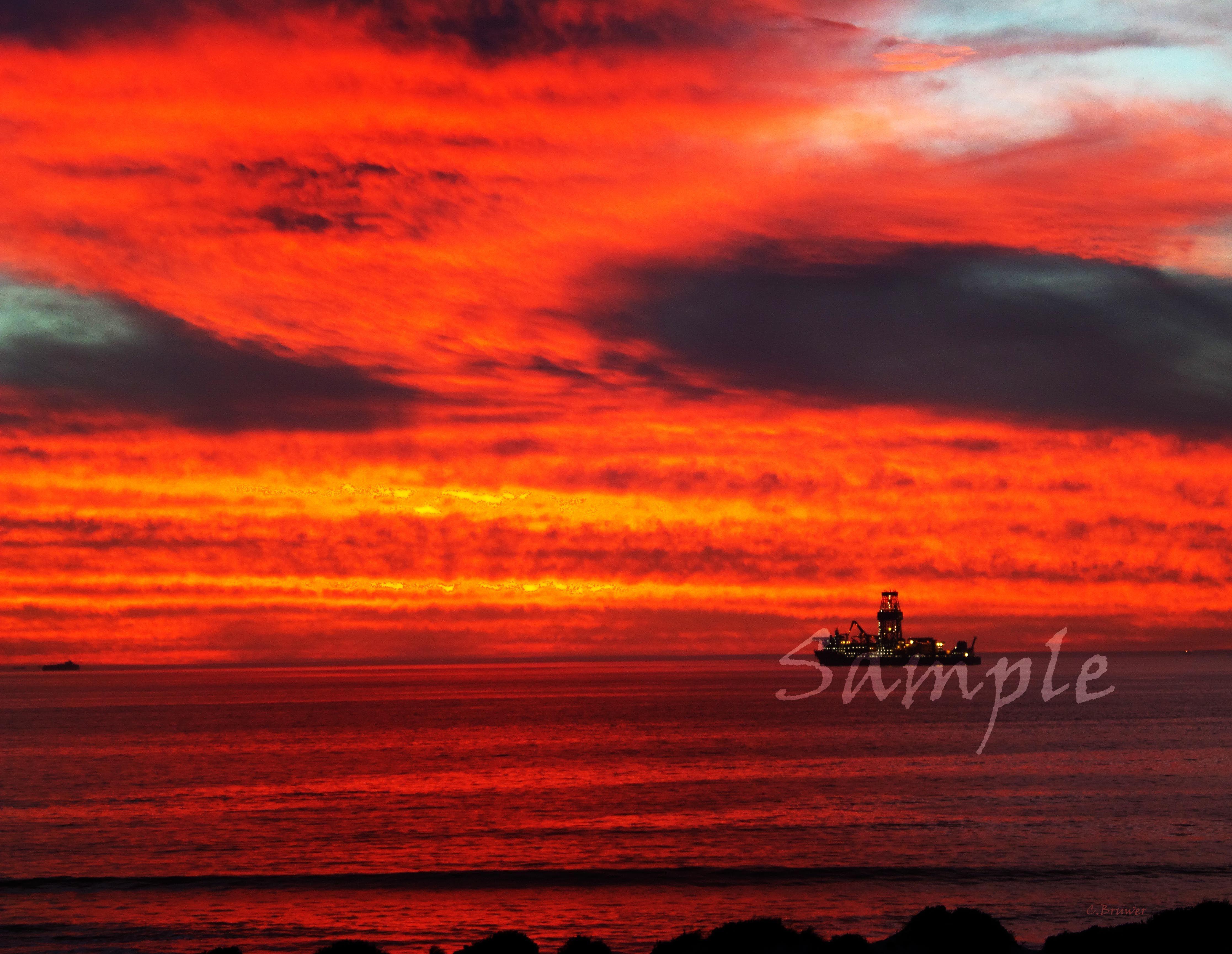 Dusk Sunset Dolphin Beach Cape Town South Africa By Charl Bruwer Cape Town South Africa Sunset Africa