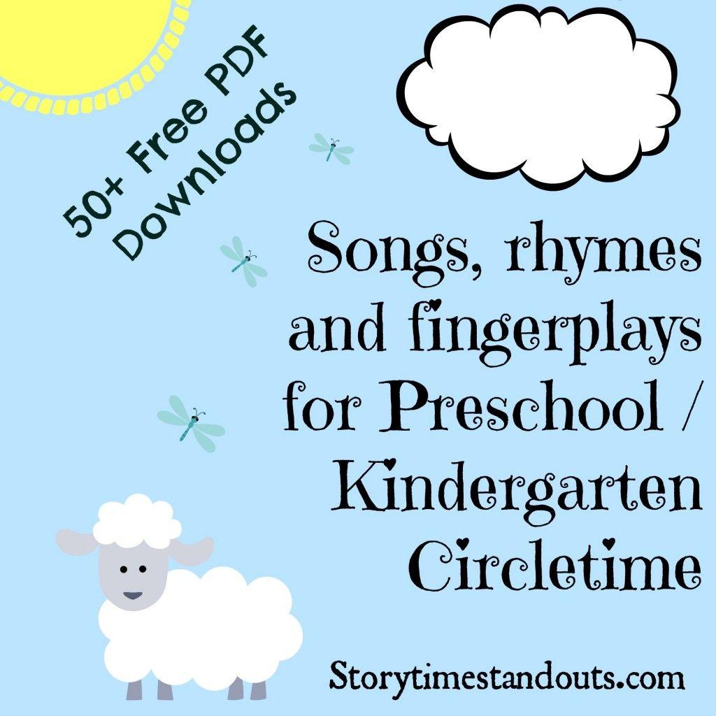 Worksheet Kindergarten Rhymes storytime standouts free printable songs rhymes and fingerplays for preschool kindergarten