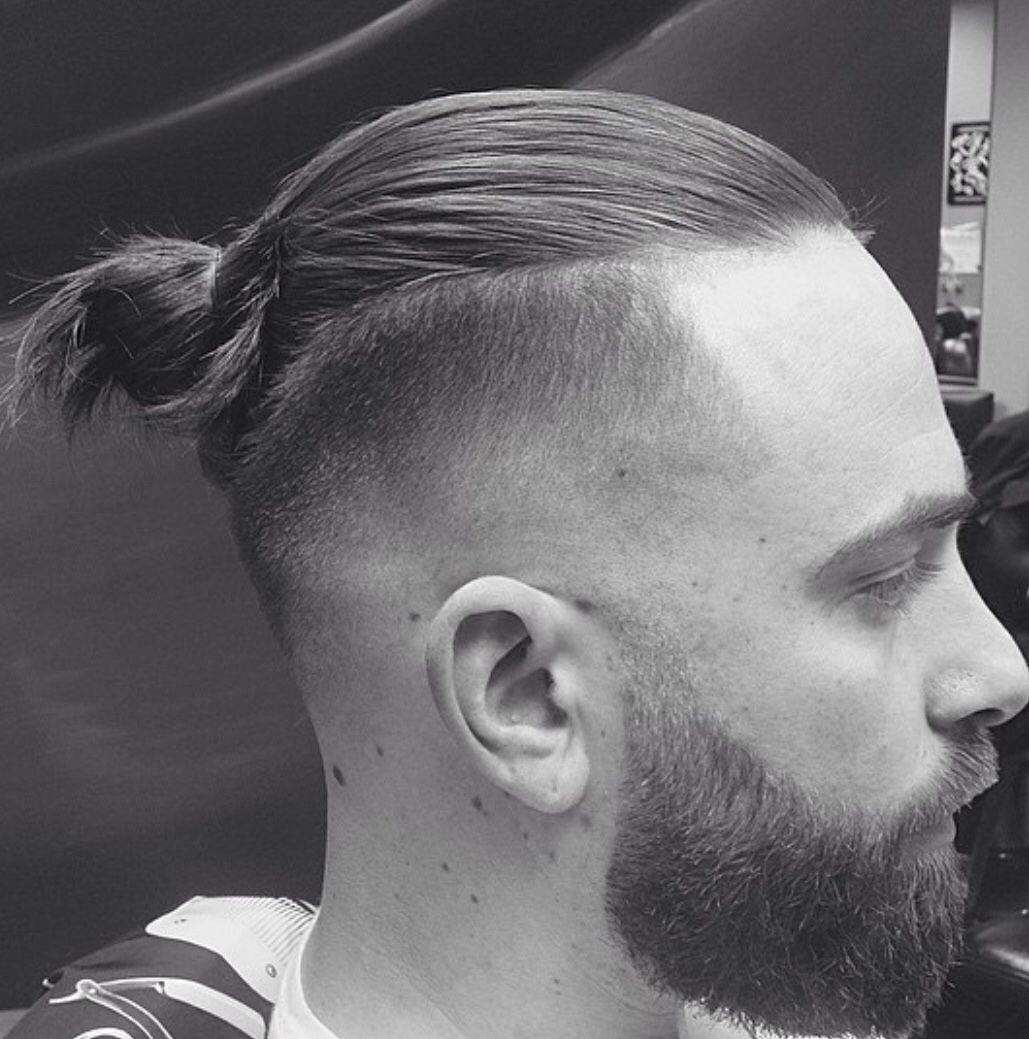 Man Bun Beard Fade Man Bun Hairstyles Man Bun Beard Beard Fade