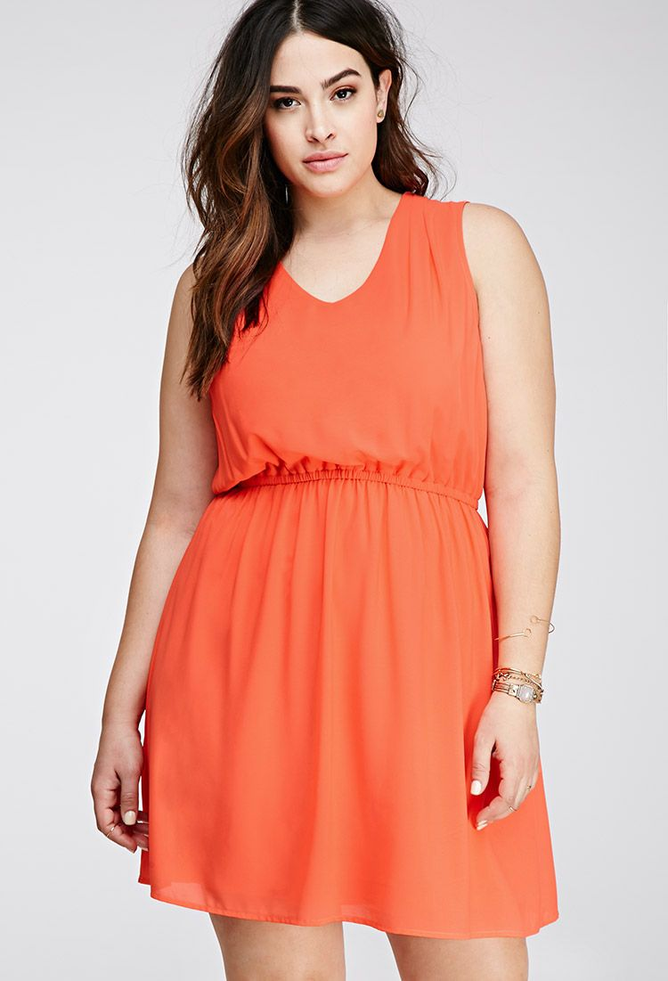 Plus Size Chiffon Dress