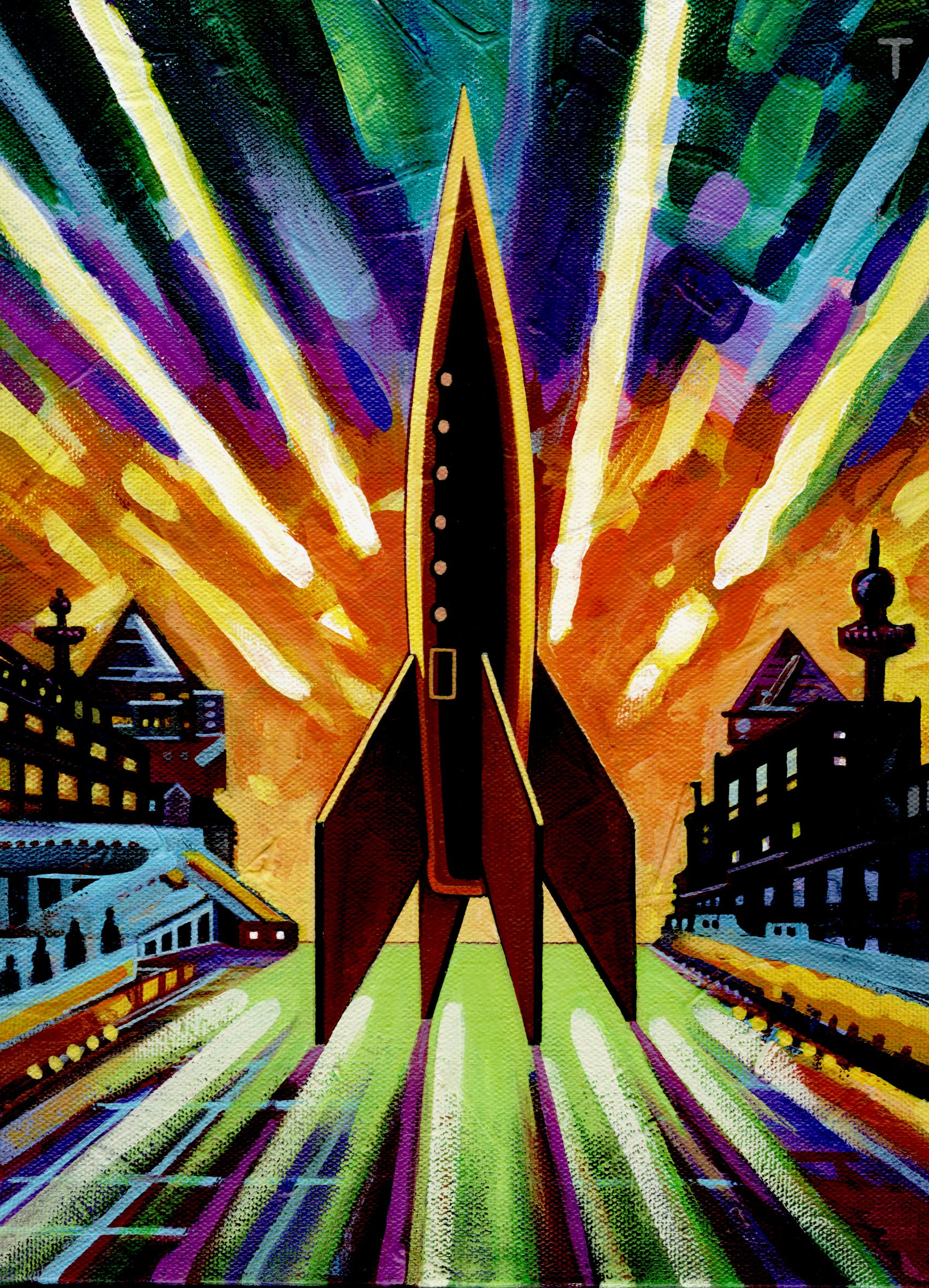 Rocket Painting # 25 | Space art, Rocket art, Painting