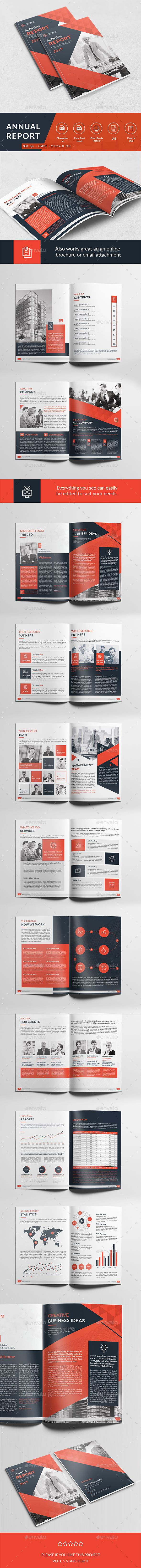 A Annual Report  Psd Template Inspiration Elegant Visual