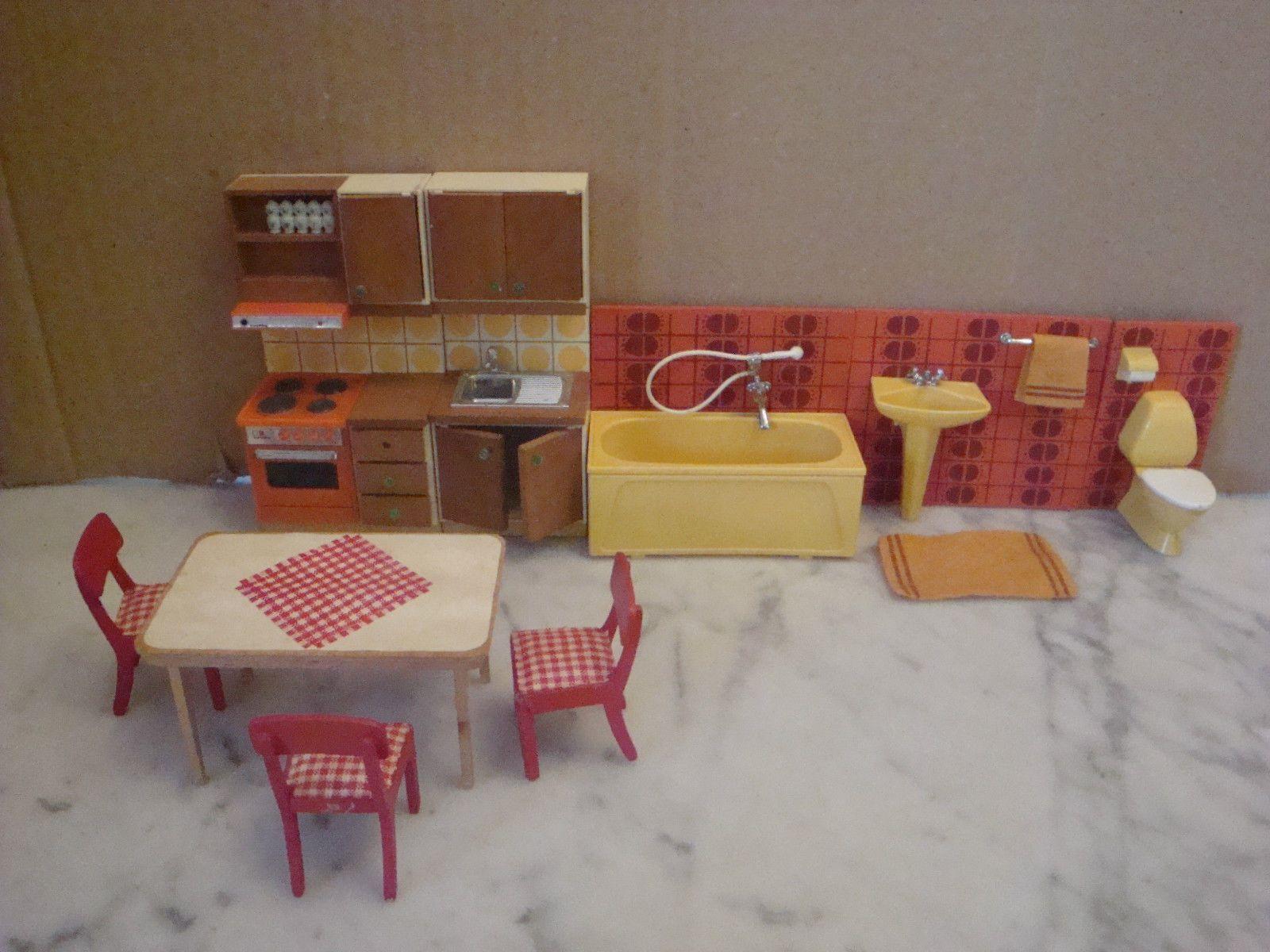 70 80 vintage lundby maison poupee meuble figurine comme. Black Bedroom Furniture Sets. Home Design Ideas