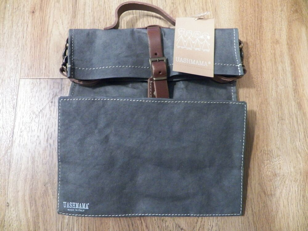 Uashmama Paper And Leather Small Bag Lunch Bag Uashmama