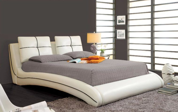 Stunning Curved Padded California King Platform Bed Frame With Stunning Bedroom Cot Designs Photos Inspiration Design