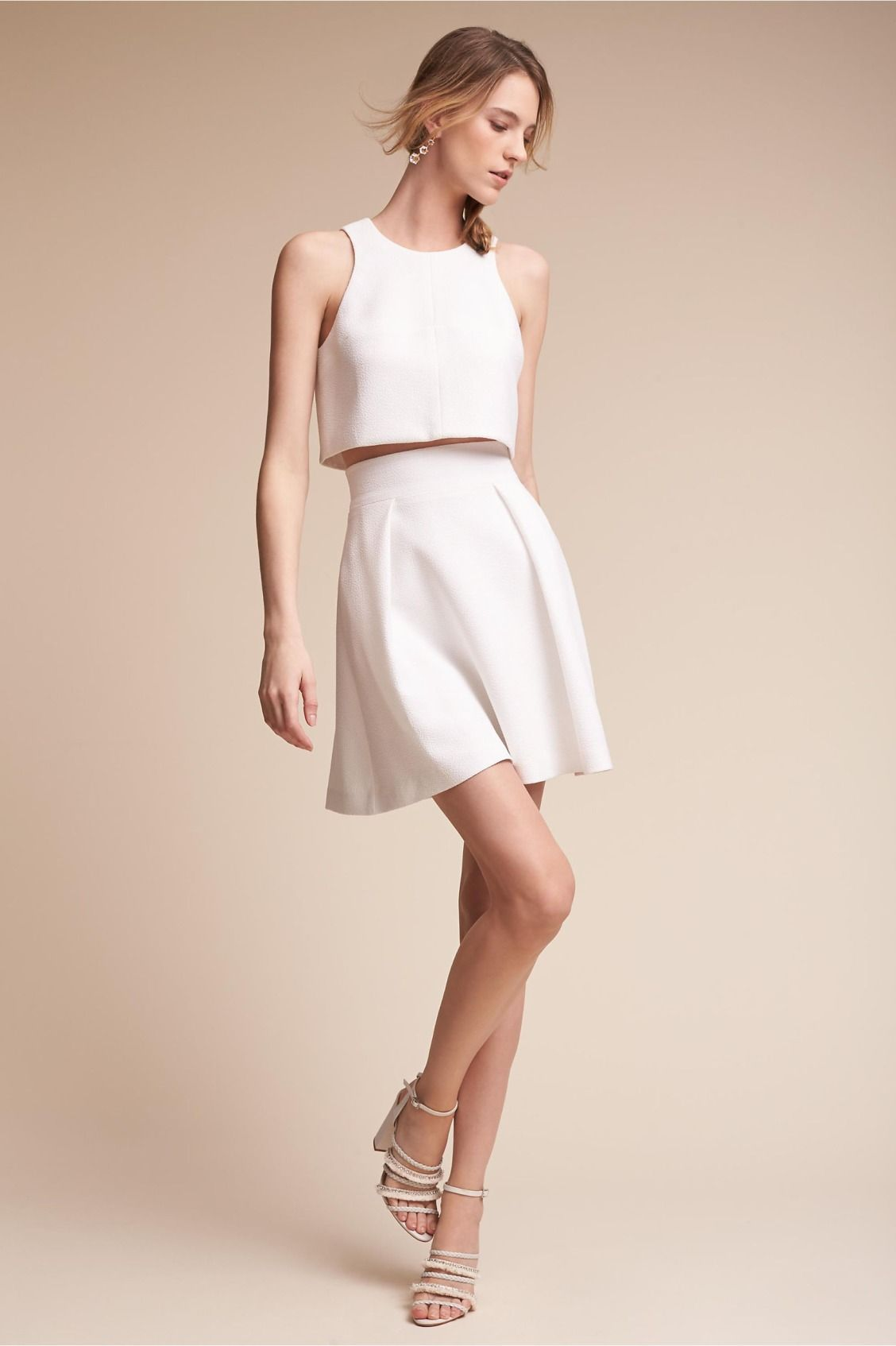 Mod Two Piece Lynnewood Two Piece Dress From Bhldn Rehearsal Dinner Dresses Rehearsal Dress Short Bridal Gown