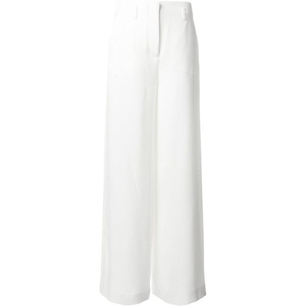 classic palazzo trousers - White Lanvin Xg3CqZ