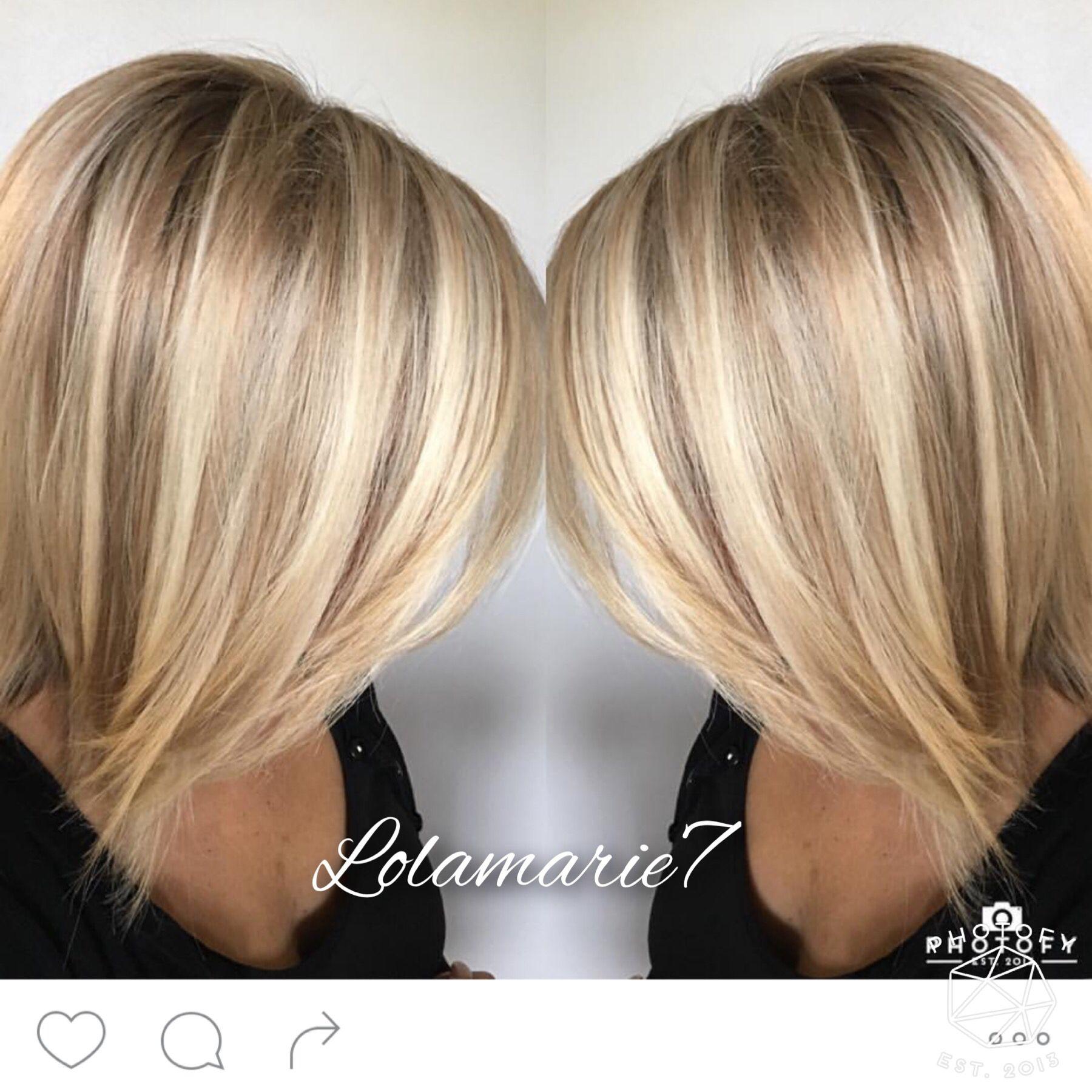 Buttery blonde …