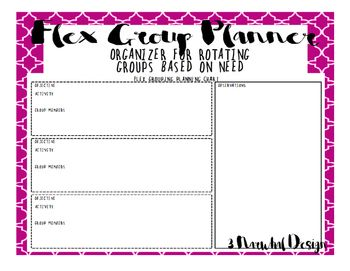 Flexible Grouping Planner  Lesson Plan Templates Activities And
