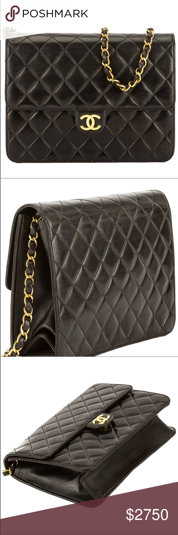 72b823b4e902 Vintage WGACA Ex-Chanel Quilted Flap Bag WGACA features this bag because  it's the best flap bag due to can be worn Three way, Signature quilted  leather ...