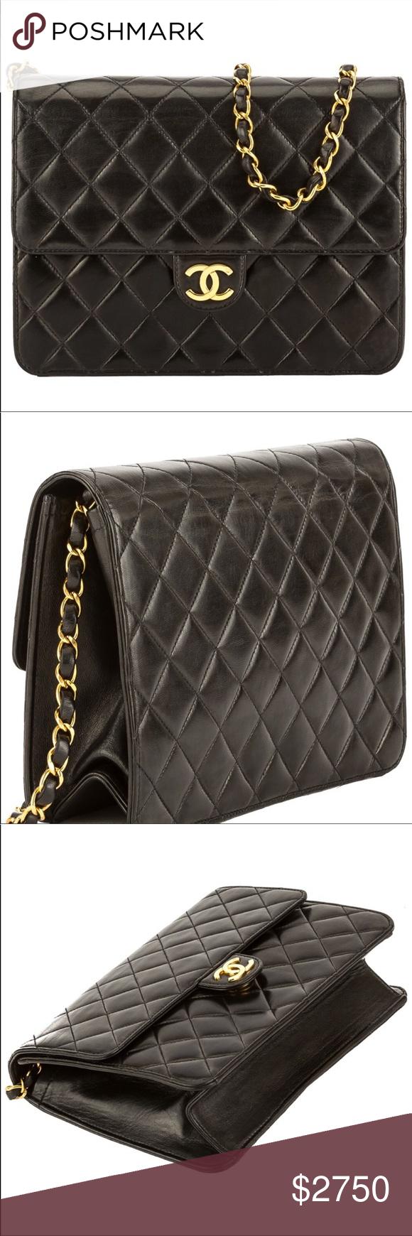 Vintage Wgaca Ex Chanel Quilted Flap Bag My Posh Picks