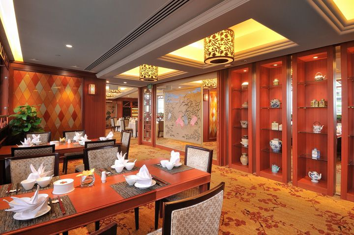 Restaurant interior design peach blossoms chinese restaurant by jp concept