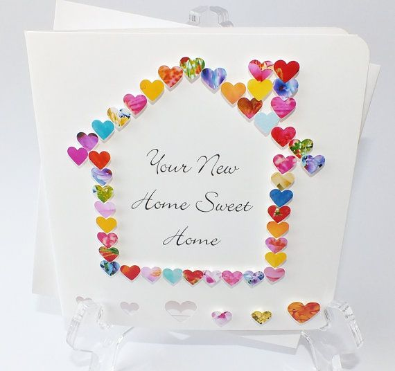 sweet welcome to your new home gift ideas. Beautifully handmade New Home card  Your will read Sweet on the front however if you prefer a different message just select Handmade 3D Card Personalised Personalized Welcome to
